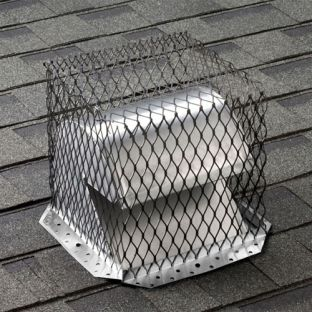 "11"" x 11"" Black Stainless Steel Roof Vent Guard"