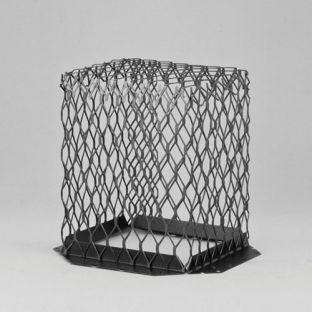 "7"" x 7"" Black Galvanized Steel Roof Vent Guard"