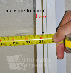Close-up of Width Measurement