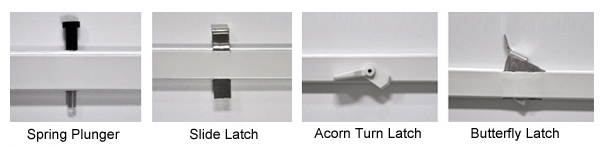 Window Screen Hardware for Windows without Tracks