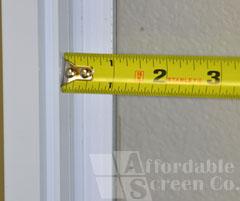 Close-up of Width Measurement